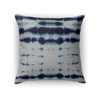 Kavka Designs blue shibori stripe accent pillow with insert