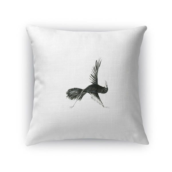 Kavka Designs black/ white crow in triangle accent pillow with insert