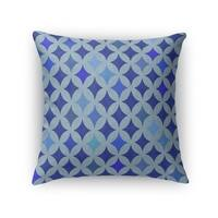 Kavka Designs blue large diamond blue accent pillow with insert