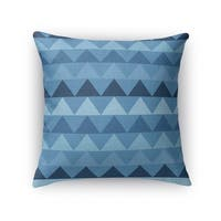 Kavka Designs blue caps accent pillow with insert