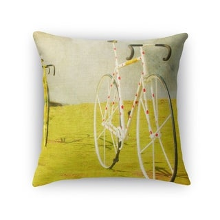 Kavka Designs yellow/ green/ white/ red le tour accent pillow with insert