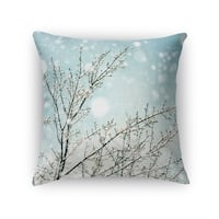 Kavka Designs blue/ white/ brown icy branches accent pillow with insert