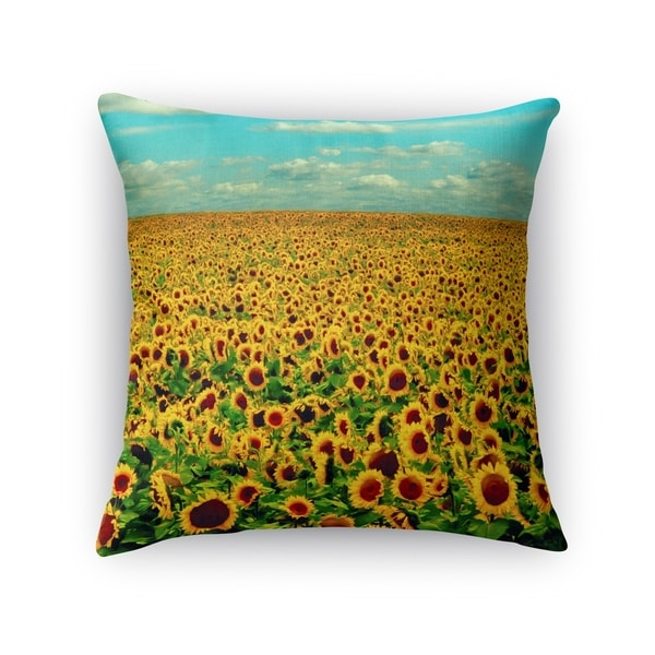 Kavka Designs yellow/ green/ blue forever accent pillow with insert