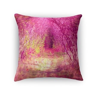 Kavka Designs purple/ green pink into the pink light accent pillow with insert