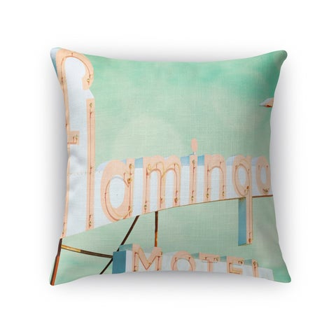 Kavka Designs pink/ blue/ green flamingo accent pillow with insert