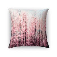 Kavka Designs pink/ brown/ blue awash accent pillow with insert