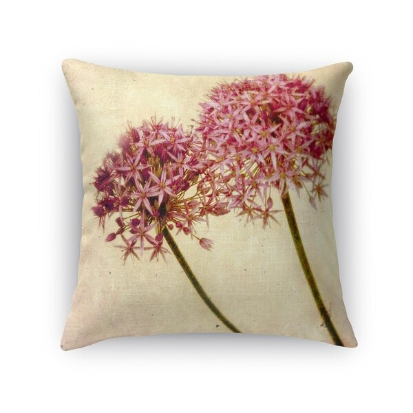 Kavka Designs purple/ green/ tan fireworks fill the sky accent pillow with insert