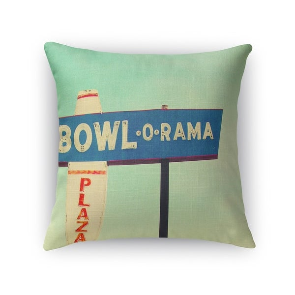 Kavka Designs blue/ green/ red/ ivory bowl o rama accent pillow with insert