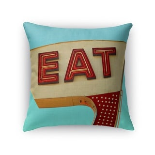 Kavka Designs blue/ ivory/ red eat accent pillow with insert
