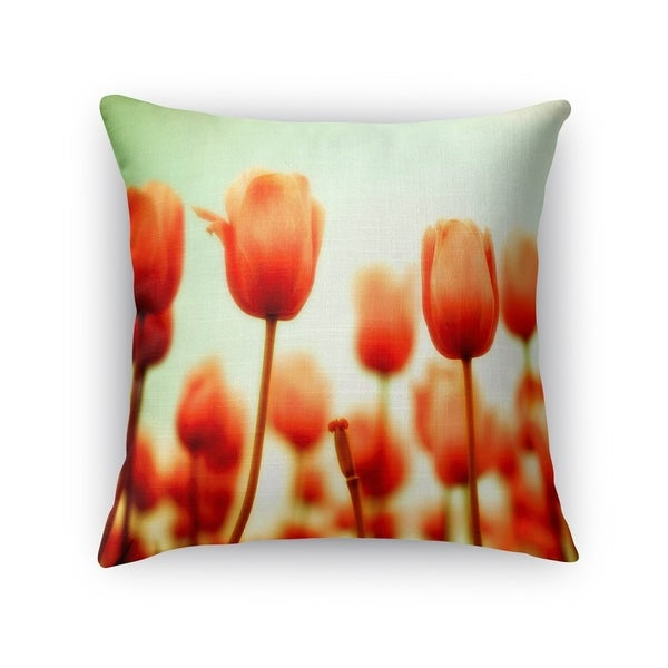 Kavka Designs rose/ red/ green/ blue red square accent pillow with insert