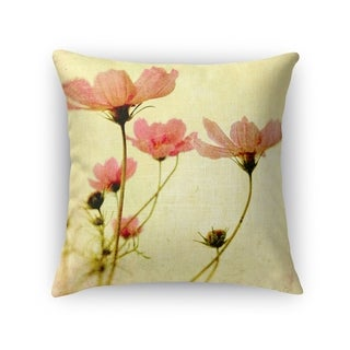 Kavka Designs pink/ green/ ivory cosmos accent pillow with insert