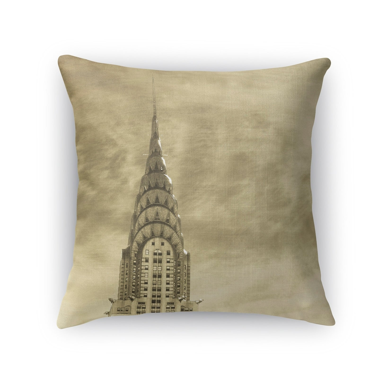 Kavka Designs grey skyline accent pillow with insert (18 x 18)