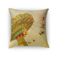 Kavka Designs tan/ blue/ gold wheee accent pillow with insert