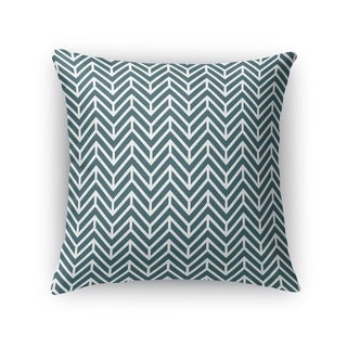 Kavka Designs green chevron teal accent pillow with insert