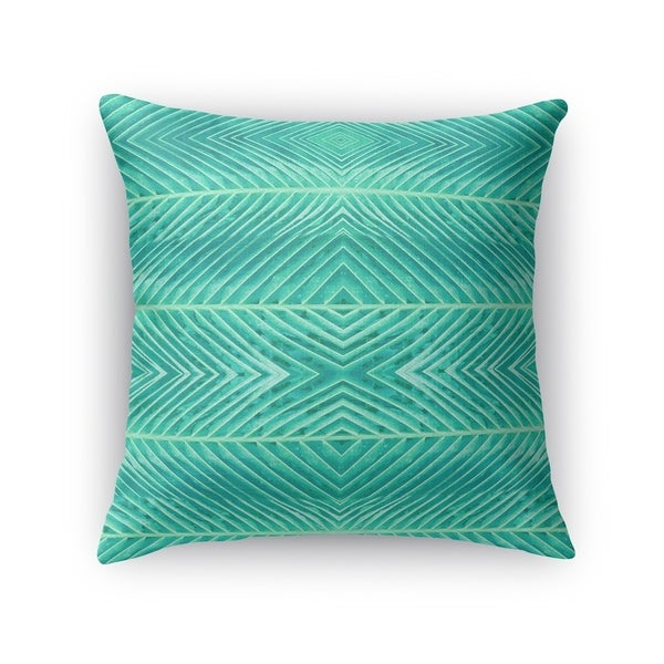 Kavka Designs green blue green palms accent pillow with insert
