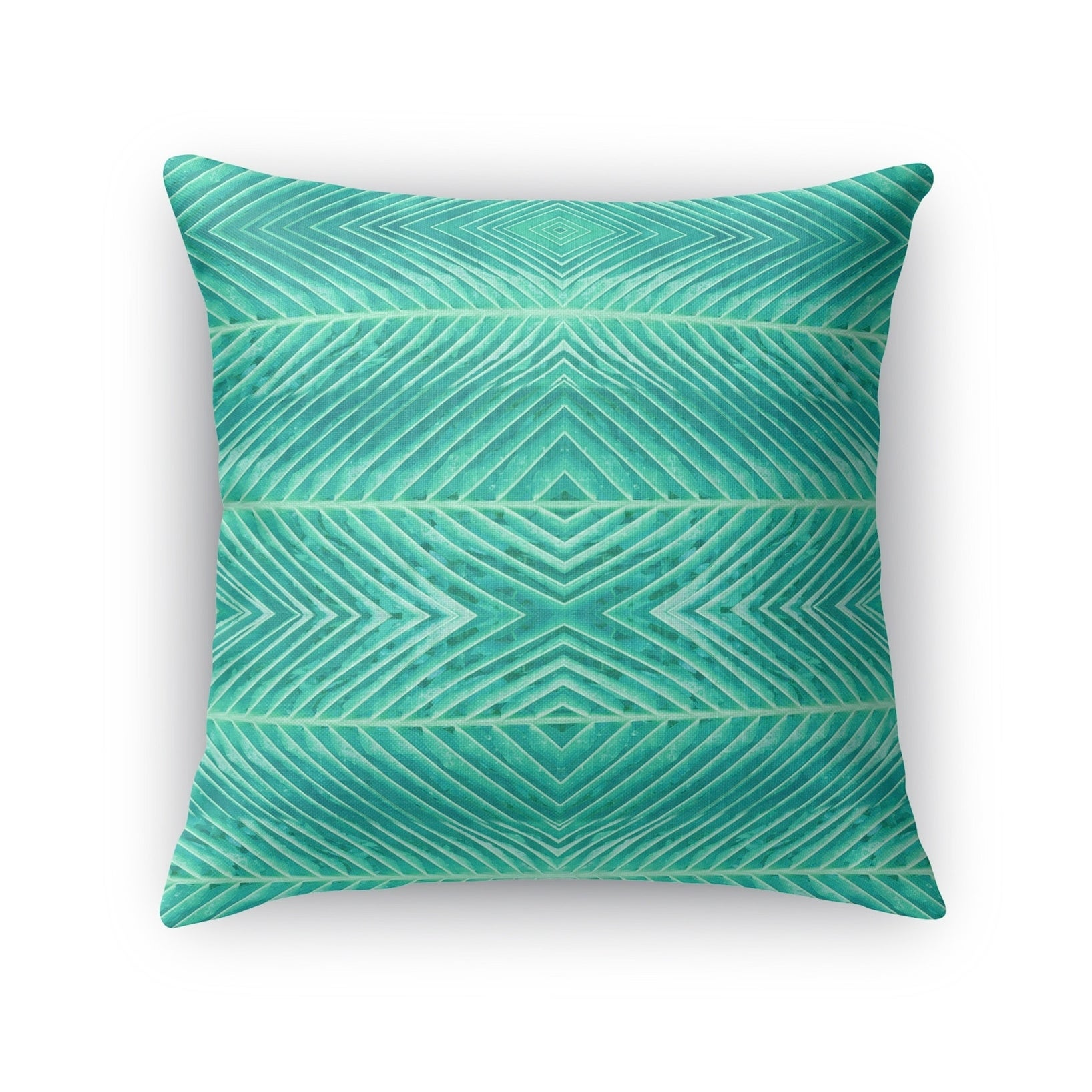 Kavka Designs green blue green palms accent pillow with insert (18 x 18)