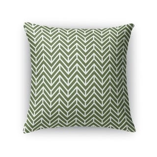 Kavka Designs green chevron grass accent pillow with insert