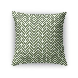 Kavka Designs green chevron grass accent pillow with insert