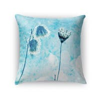 Kavka Designs blue/ white winter blue accent pillow with insert