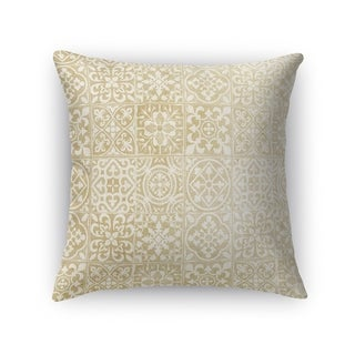 Kavka Designs gold/ ivory tiles accent pillow with insert