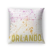 Kavka Designs purple/ gold/ white orlando pink sunset front accent pillow with insert