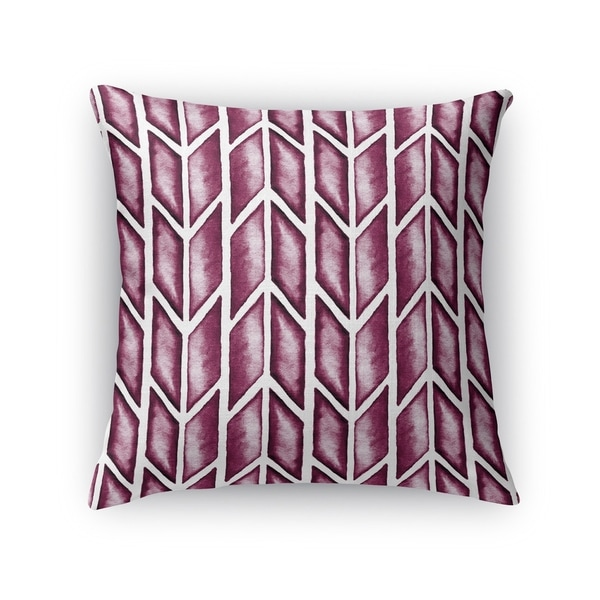 Kavka Designs purple arrows maroon accent pillow with insert