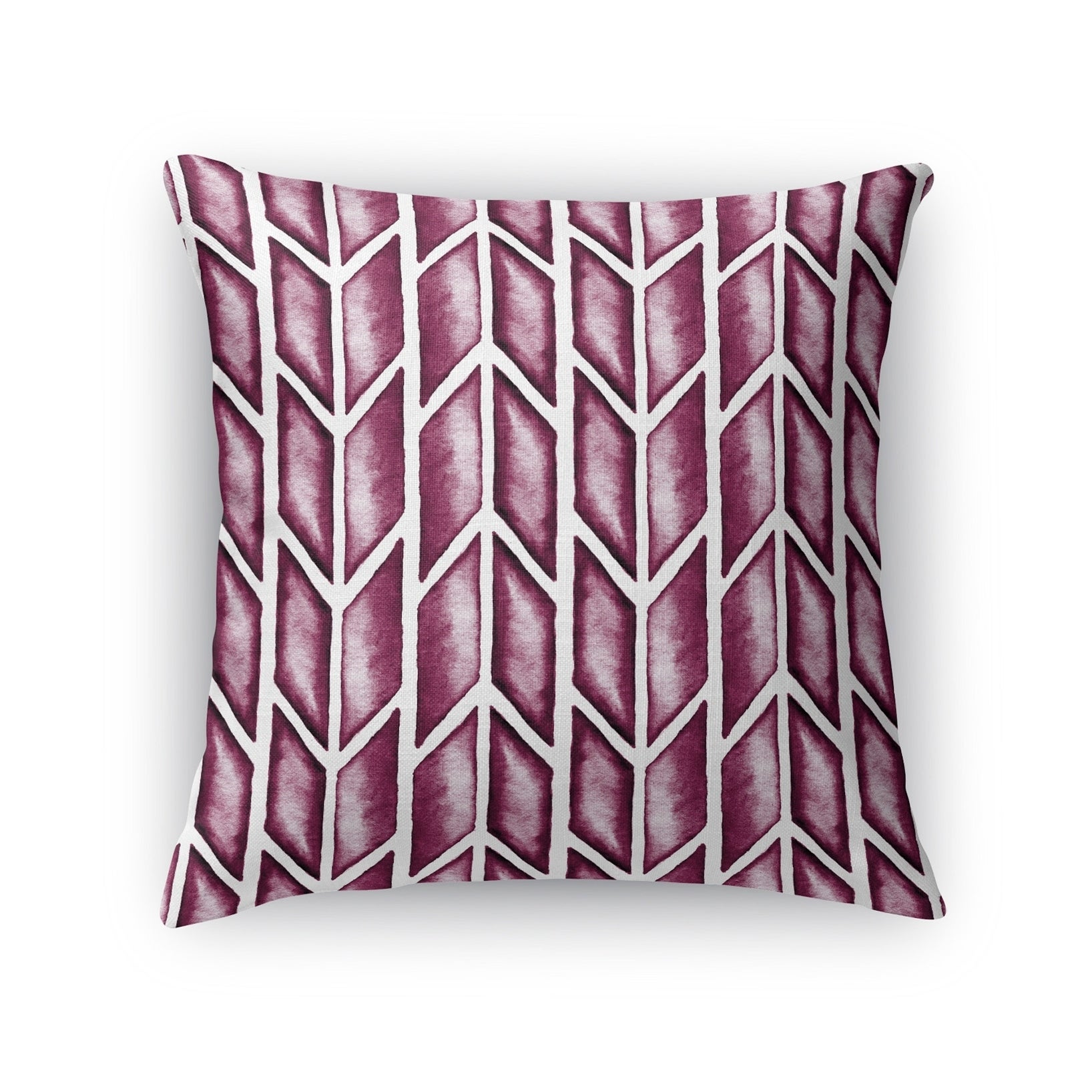 Kavka Designs purple arrows maroon accent pillow with insert (16 x 16)