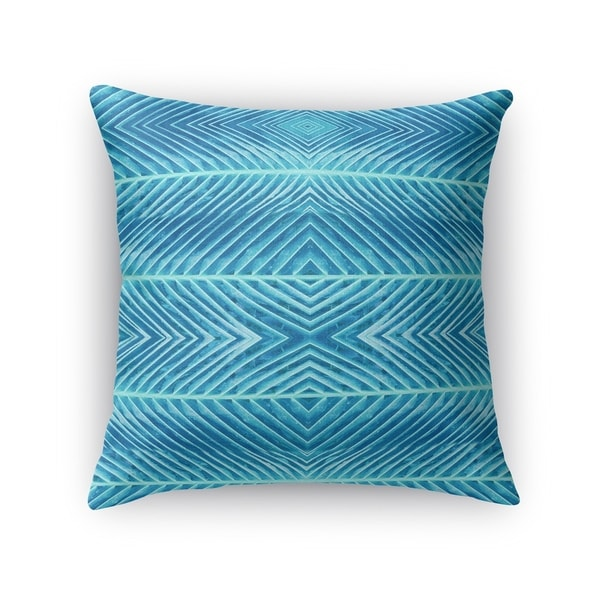 Kavka Designs blue blue palms accent pillow with insert