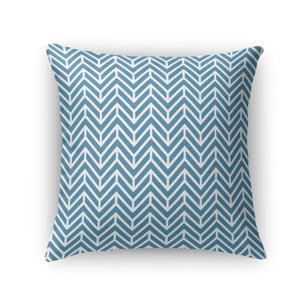 Kavka Designs blue chevron ocean accent pillow with insert