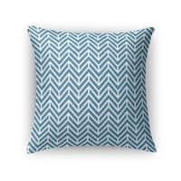 Kavka Designs blue chevron ocean accent pillow with insert