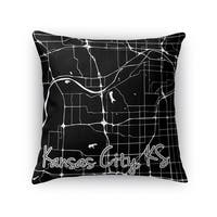 Kavka Designs black/ white kck accent pillow with insert