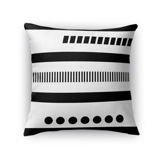 Kavka Designs black/ white geotribal black accent pillow with insert
