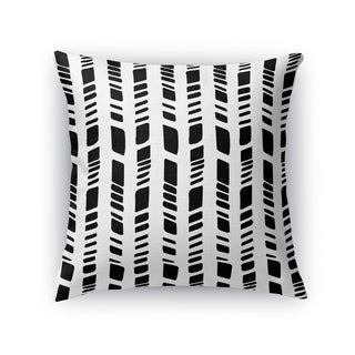 Kavka Designs black/ white baby tribal white accent pillow with insert