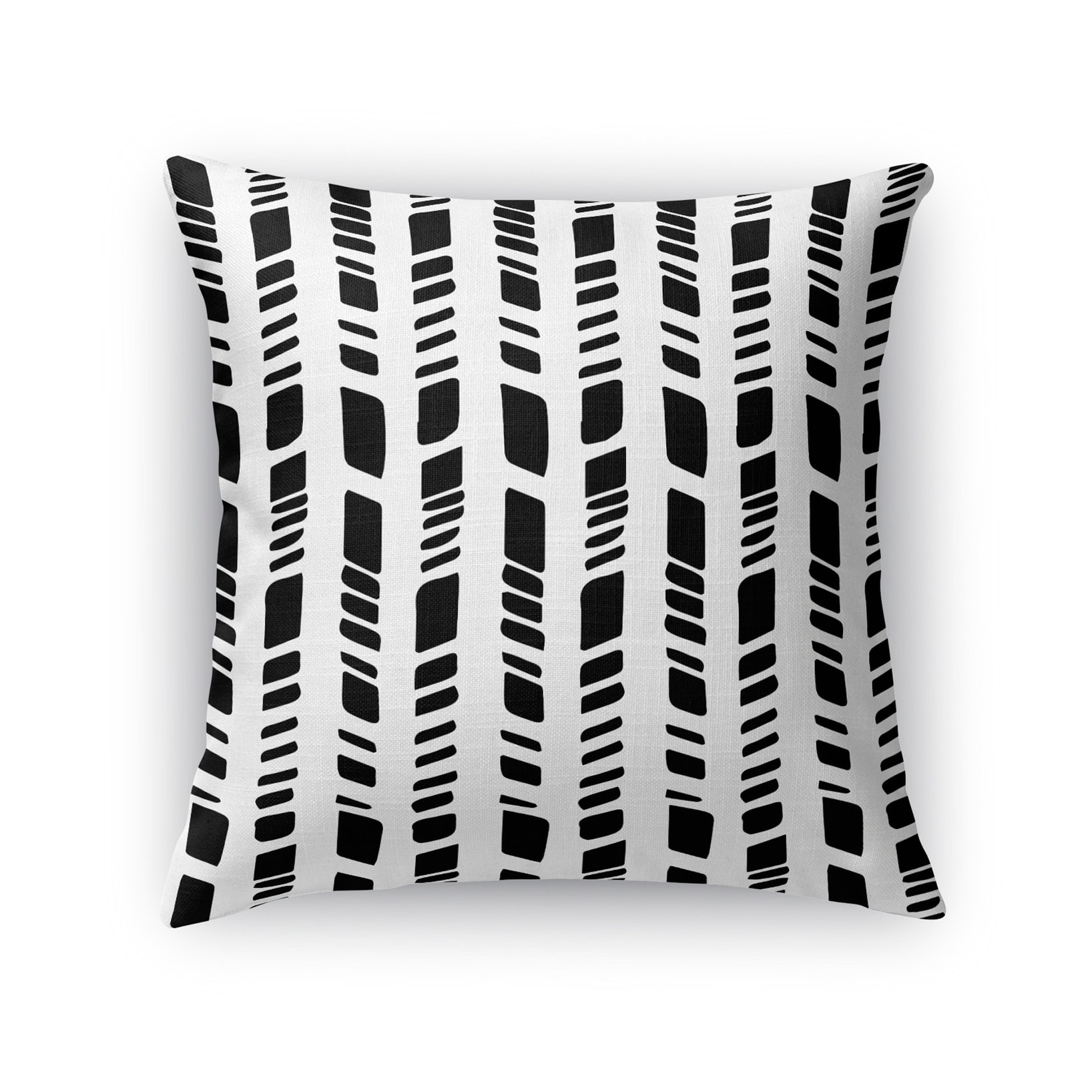 Kavka Designs black/ white baby tribal white accent pillow with insert (24 x 24)
