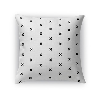 Kavka Designs grey/ black cross hatch accent pillow with insert