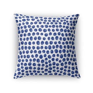 Kavka Designs blue/ white paint dot indigo accent pillow with insert