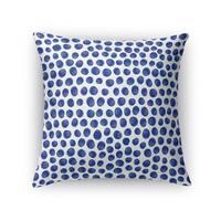 Kavka Designs blue/ white paint dot indigo accent pillow with insert