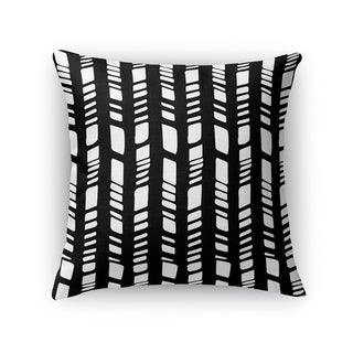 Kavka Designs black/ white baby tribal black accent pillow with insert