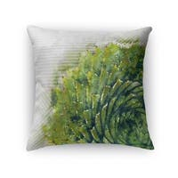 Kavka Designs green/ grey/ ivory watercolor aloe accent pillow with insert