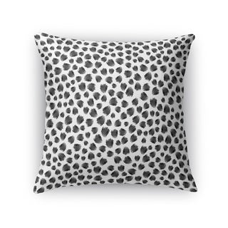Kavka Designs grey/ white jagged spots black accent pillow with insert