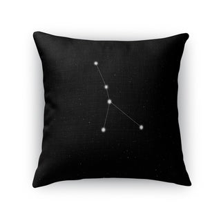 Kavka Designs black/ white cancer accent pillow with insert