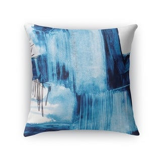 Kavka Designs blue/ ivory blue abstract set three accent pillow with insert (16 x 16)