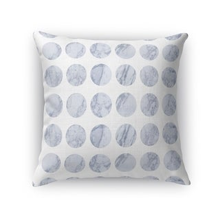 Kavka Designs grey/ white fat dot white marble accent pillow with insert