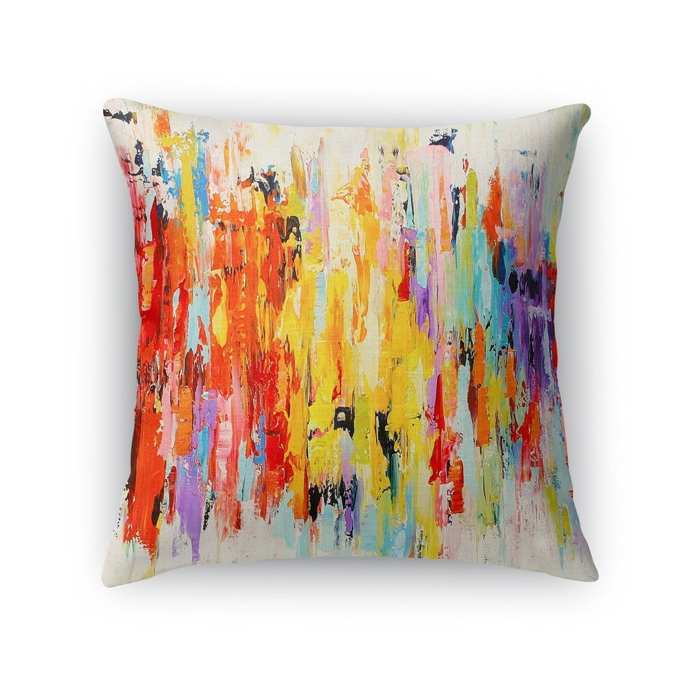 Kavka Designs Red Orange Purple Blue Green Abstract Dance Accent Pillow With Insert Overstock 16937036