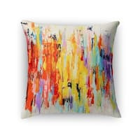 Kavka Designs red/ orange/ purple/ blue/ green abstract dance accent pillow with insert