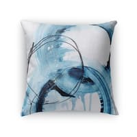 Kavka Designs blue/ ivory blue abstract set four accent pillow with insert