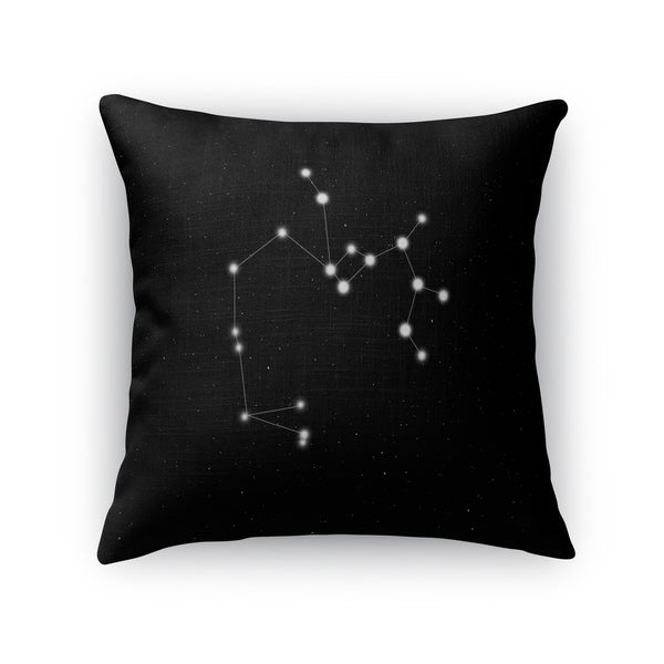 Kavka Designs black/ white sagittarius accent pillow with insert