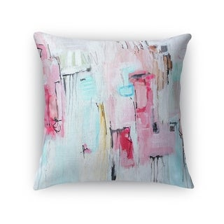 Kavka Designs blue/ pink big city girl accent pillow with insert