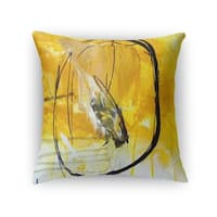 Kavka Designs gold/ black gold universe accent pillow with insert