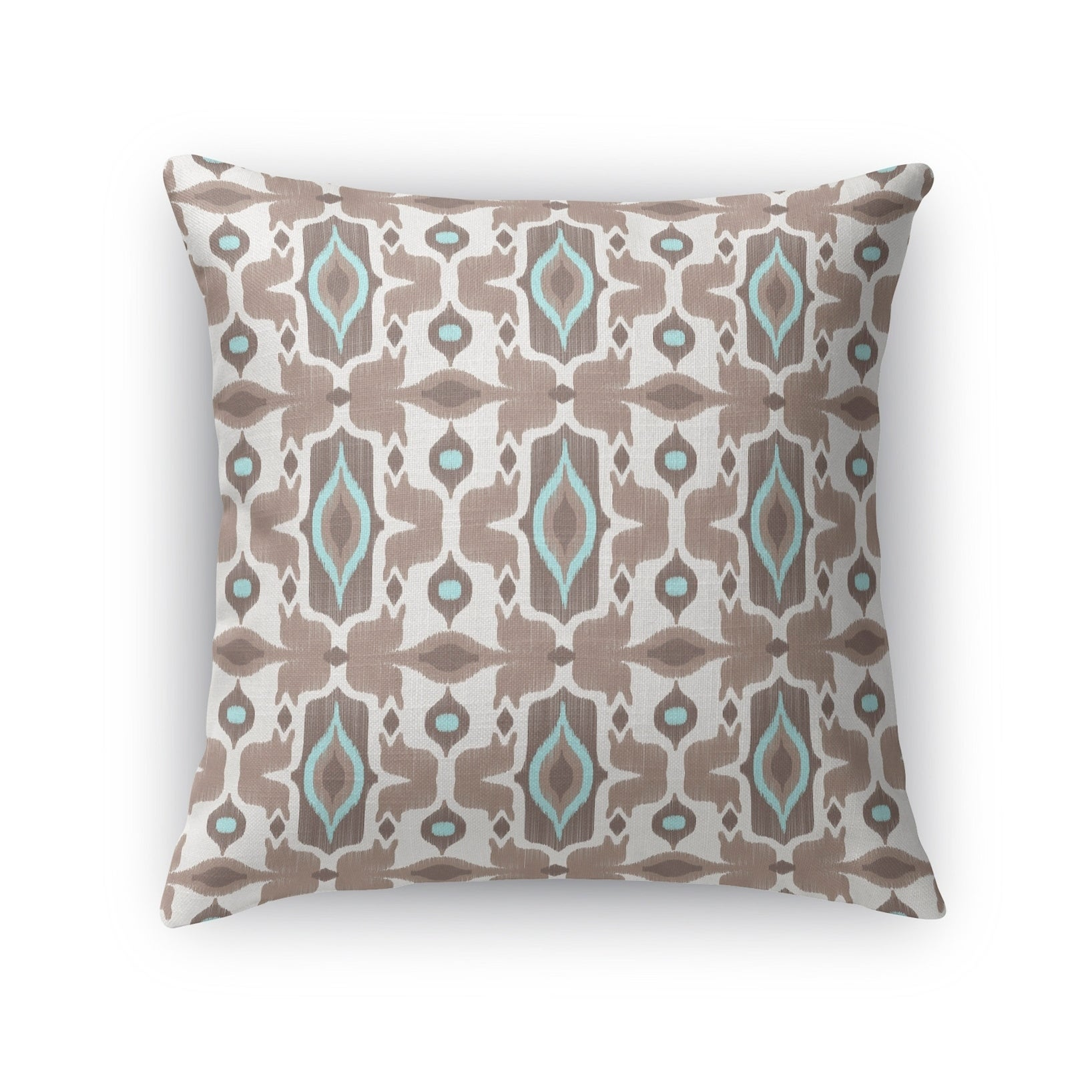 Kavka Designs ivory/ turquoise/ brown mojave accent pillow with insert (16 x 16)